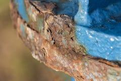 Структура повреждения ржавчины стальная Стоковая Фотография RF