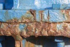 Структура повреждения ржавчины стальная Стоковые Изображения
