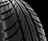 Структура профиля колеса зимы конца-вверх автошин автомобиля на черной предпосылке - переводе 3d Бесплатная Иллюстрация
