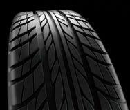 Структура профиля колеса зимы конца-вверх автошин автомобиля на черной предпосылке - переводе 3d Иллюстрация вектора