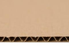 Структура рифлёного картона отрезка Стоковые Фотографии RF