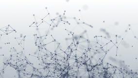 Структура соединения Многоточия и линии 3D анимация иллюстрация вектора