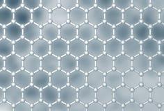 Структура слоя Graphene молекулярная Стоковая Фотография
