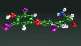 Структура тироксина иллюстрация вектора