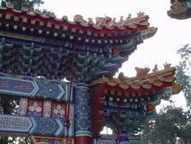 структура фарфора Пекин богато украшенный Стоковое Изображение