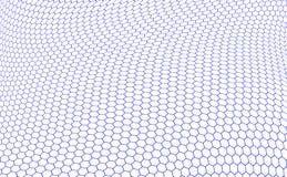 структура шестиугольников graphene Стоковое Изображение