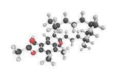структура 3d ацетата Tocopheryl, также известная как acet витамина e Стоковые Изображения RF