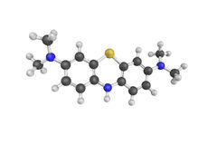 структура 3d Leuco-methylthioninium Стоковое фото RF