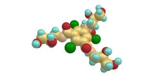 Структура Iohexol молекулярная изолированная на белизне иллюстрация штока