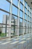 Структура Windows решетки с внешним взглядом Стоковое Изображение