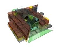 Структурная схема самомоднейшего здания бесплатная иллюстрация