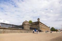 Структуры городища крепости Питер и Пол в Санкт-Петербурге стоковые фото