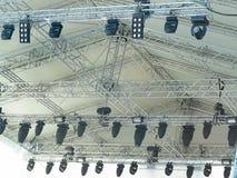 Структуры освещения этапа электрического делать оборудование стоковое фото rf