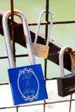 Стручк-замки Pont des Arts стоковая фотография