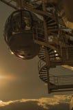 Стручок глаза Лондона на заходе солнца Стоковая Фотография RF