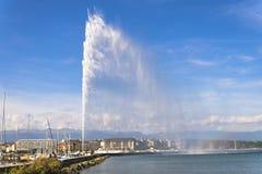 Струя воды Женевы Стоковое Изображение