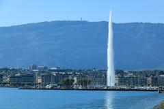 Струя воды Женевы Стоковые Фото