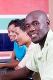 студенты афроамериканца Стоковые Изображения RF