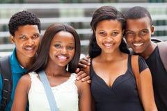 Студенты афроамериканца стоковое фото