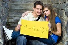 студенты влюбленности Стоковое Изображение
