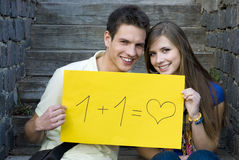 студенты влюбленности Стоковая Фотография