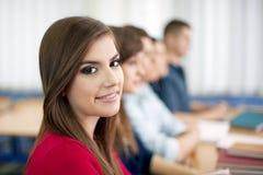 Студенты в классе Стоковое Фото