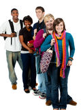 студенты группы коллежа multi расовые Стоковое фото RF