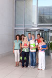 студенты группы счастливые Стоковая Фотография RF