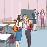 Студенты и образование иллюстрация штока