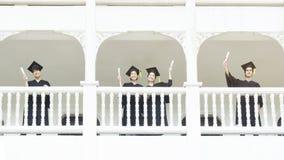 Студенты людей в чувстве счастливого и грациозно Стоковое Изображение RF