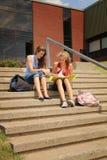 Студенты на школе стоковая фотография