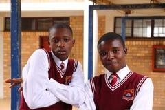 Студенты средней школы Percy Mdala стоковое фото