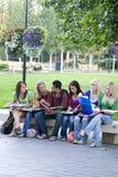 студенты стенда Стоковые Изображения RF