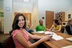 студенты студента салона многокультурные Стоковое фото RF