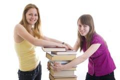 студенты 2 детеныша Стоковые Изображения RF