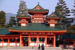 студенты pagoda Стоковая Фотография