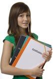студент аттестации портфеля женский Стоковое Фото