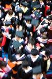 студент-выпускники толпы Стоковое Изображение RF