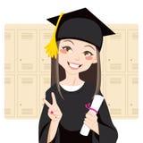 студент-выпускник азиата бесплатная иллюстрация