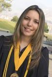 студент-выпускник девушки Стоковая Фотография