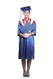 студент-выпускник диплома ее студент удерживания Стоковые Изображения