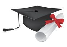студент-выпускник диплома крышки Стоковое Изображение