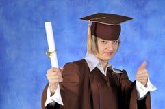 студент-выпускник диплома Стоковая Фотография RF
