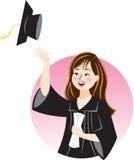 студент-выпускник поздравлениям Бесплатная Иллюстрация