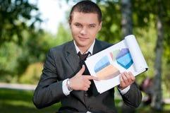 студент выставки парка человека диаграммы дела Стоковое Изображение