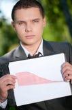 студент выставки парка человека диаграммы дела Стоковые Фотографии RF