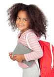 студент девушки маленький стоковая фотография rf