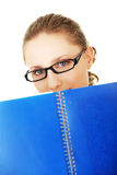 студент девушки счастливый Стоковое фото RF