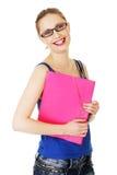 студент девушки счастливый Стоковое Изображение RF