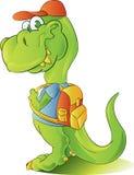 студент динозавра предназначенный для подростков Стоковая Фотография